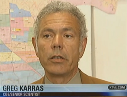 Greg Karras interview on KTVU regarding aug 6 refinery fire