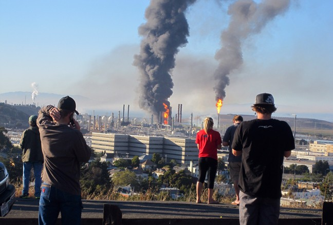Richmond Chevron refinery fire Aug 6 2012