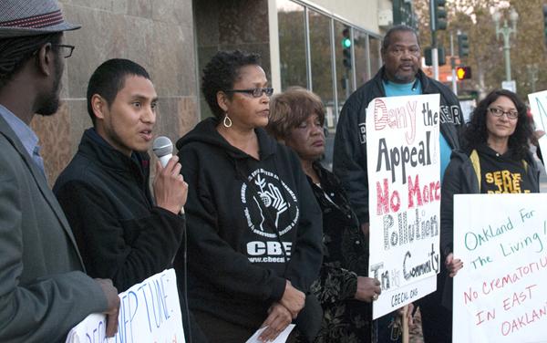 Crematorium protest 1