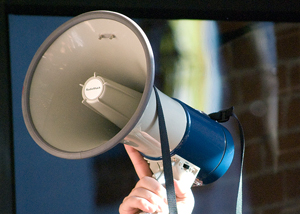 take action bullhorn